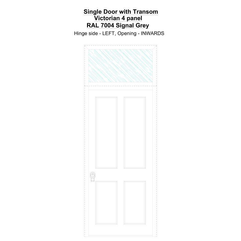 Sdt Victorian 4 Panel Ral 7004 Signal Grey Security Door