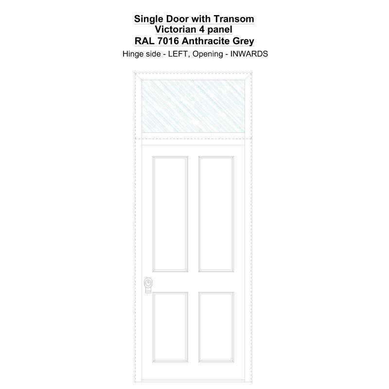 Sdt Victorian 4 Panel Ral 7016 Anthracite Grey Security Door