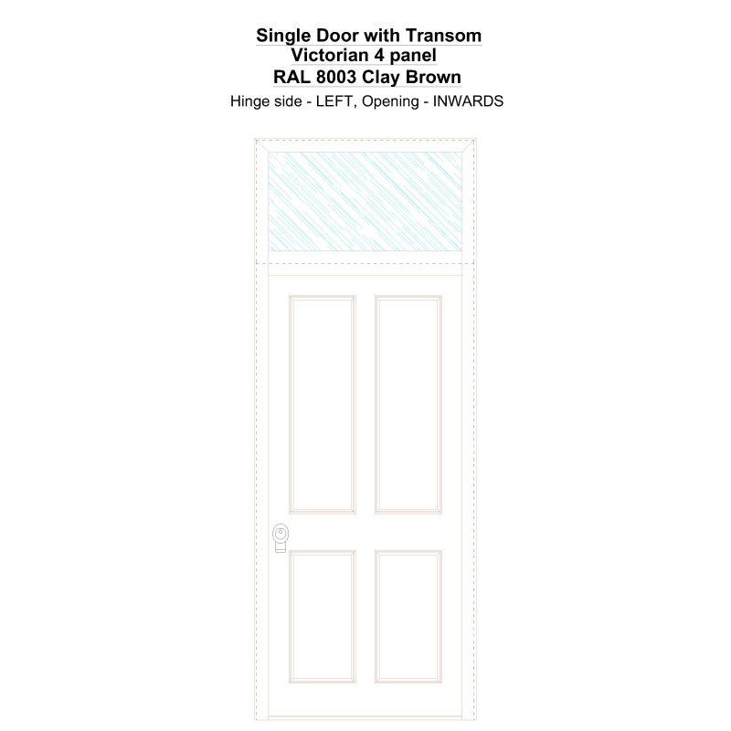 Sdt Victorian 4 Panel Ral 8003 Clay Brown Security Door