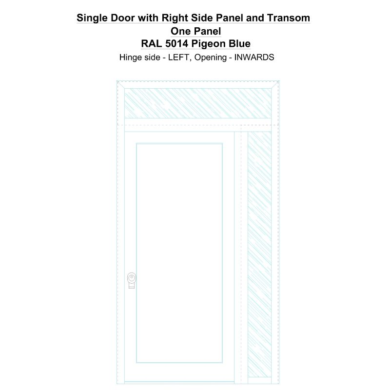 Sdt1spt(right) One Panel Ral 5014 Pigeon Blue Security Door