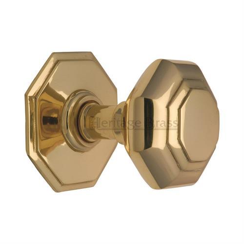 Centre Knob Polished Brass