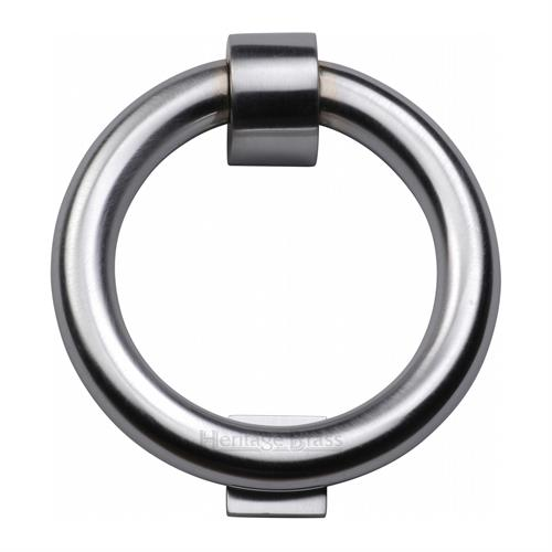 Ring Door Knocker Satin Chrome