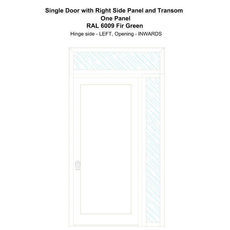 Sd1spt(right) One Panel Ral 6009 Fir Green Security Door