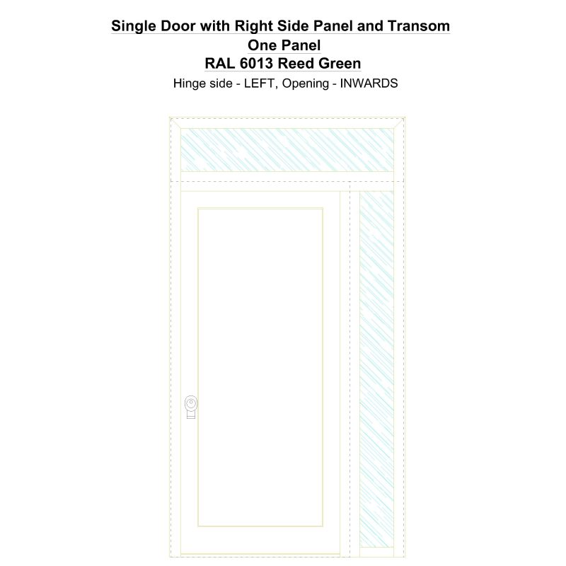Sd1spt(right) One Panel Ral 6013 Reed Green Security Door