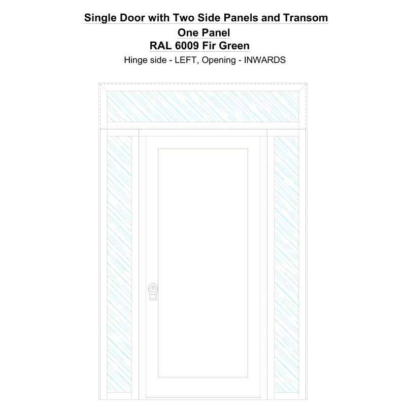Sd2spt One Panel Ral 6009 Fir Green Security Door
