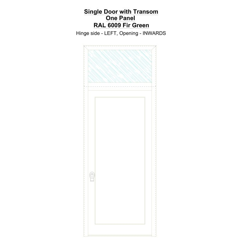 Sdt One Panel Ral 6009 Fir Green Security Door