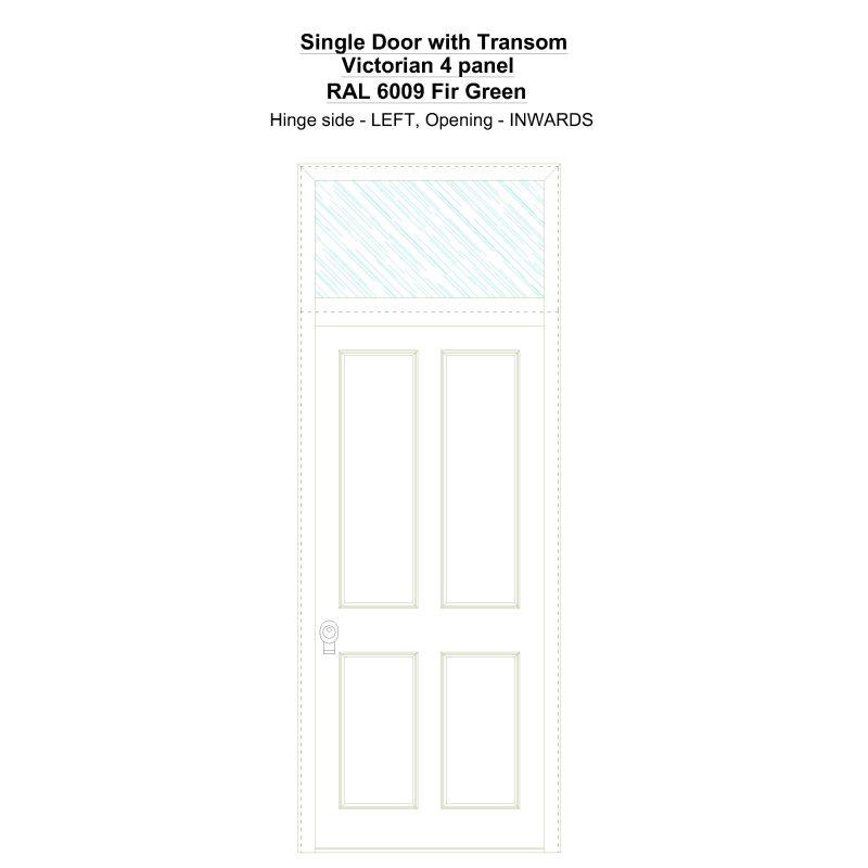 Sdt Victorian 4 Panel Ral 6009 Fir Green Security Door