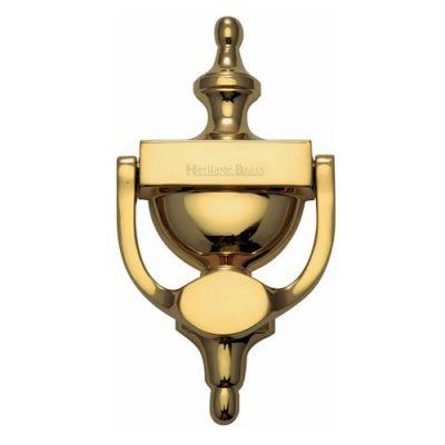 Urn Door Knocker Polished Brass