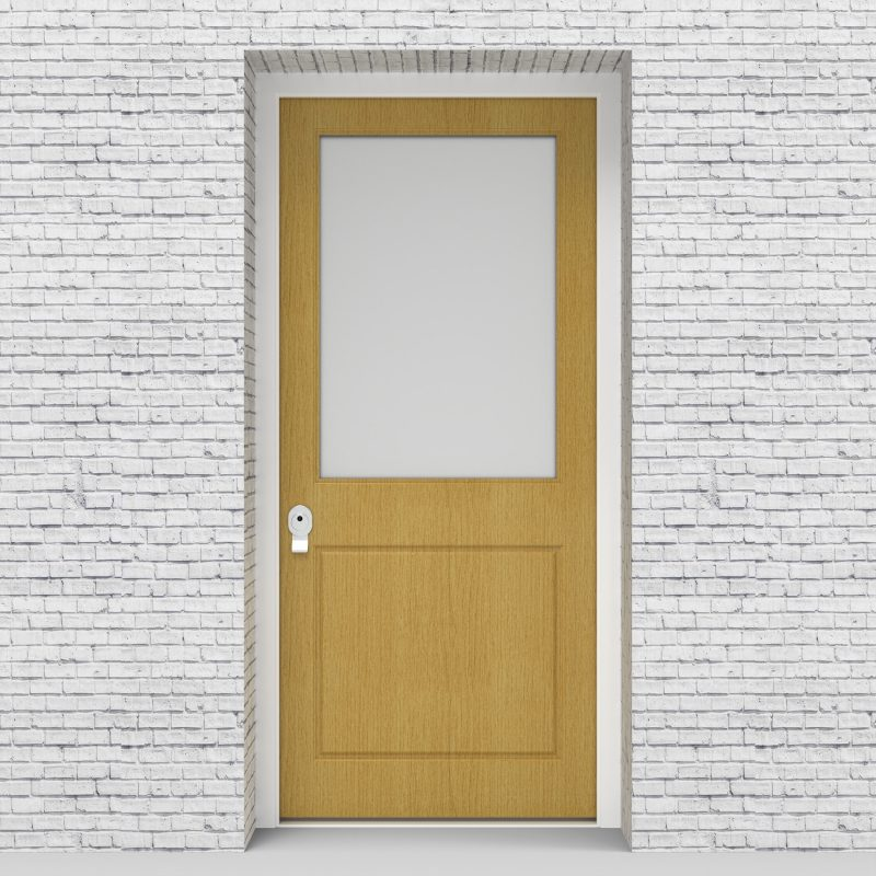 1.single Door 2 Panel With A Large Glass Pane Birch