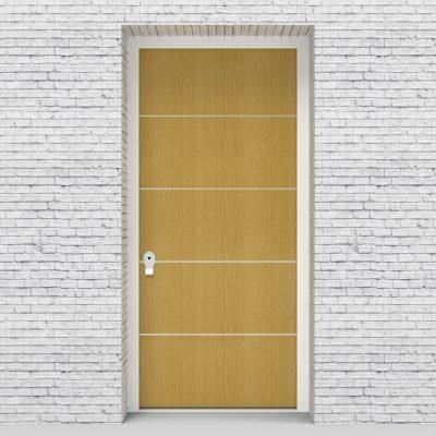 1.single Door 4 Aluminium Inlays Birch