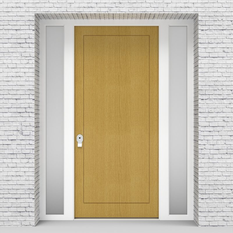 1.single Door With Two Side Panels One Panel Birch