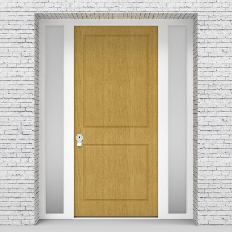 1.single Door With Two Side Panels Two Panel Birch