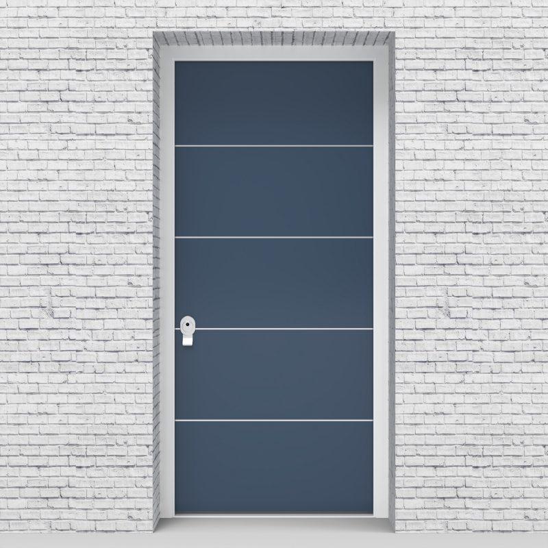 10.single Door 4 Aluminium Inlays Pigeon Blue (ral5014)