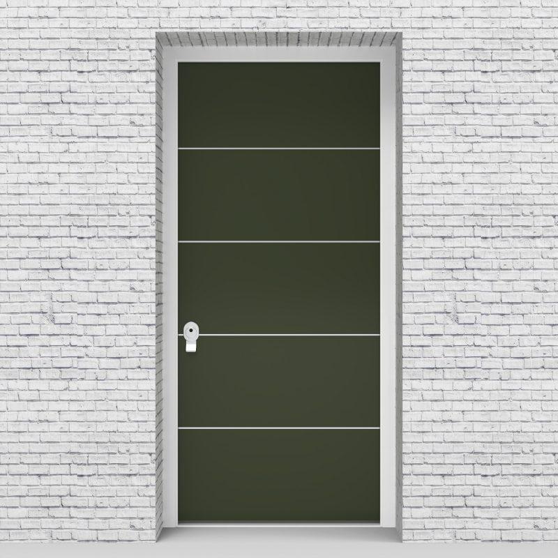 11.single Door 4 Aluminium Inlays Fir Green (ral6009)