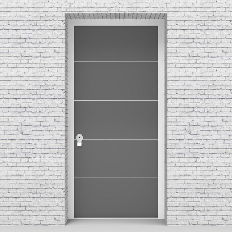13.single Door 4 Aluminium Inlays Signal Grey (ral7004)