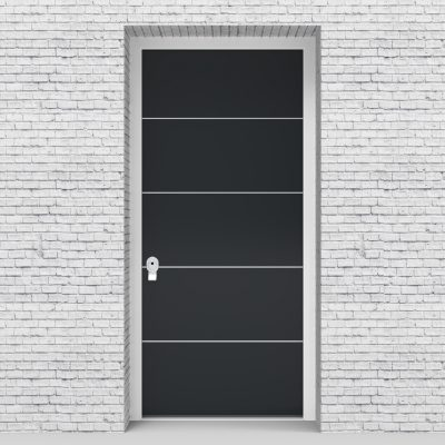 14.single Door 4 Aluminium Inlays Anthracite Grey (ral7016)