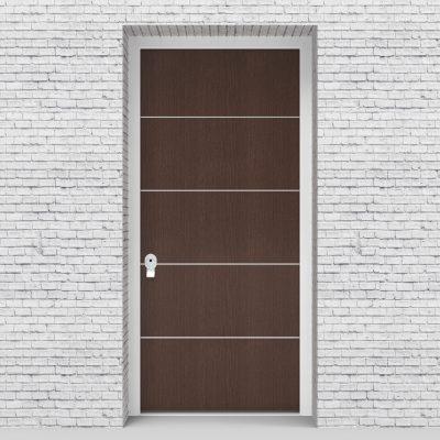 2.single Door 4 Aluminium Inlays Dark Oak