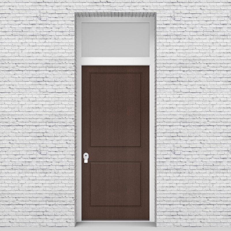 2.single Door With Transom Two Panel Dark Oak