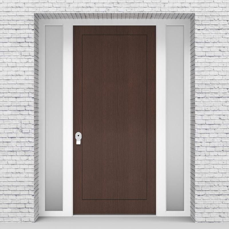 2.single Door With Two Side Panels One Panel Dark Oak