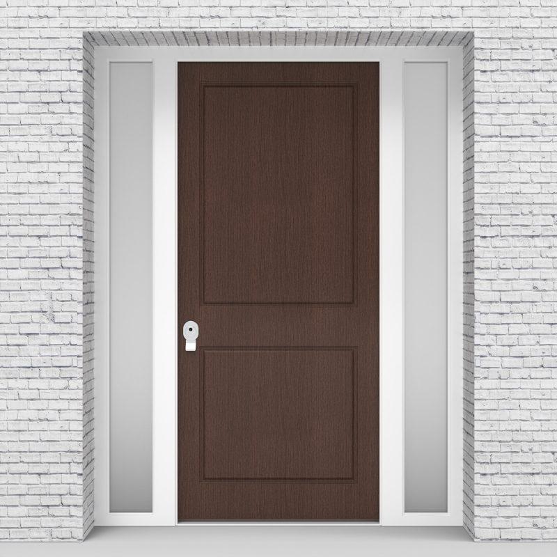2.single Door With Two Side Panels Two Panel Dark Oak