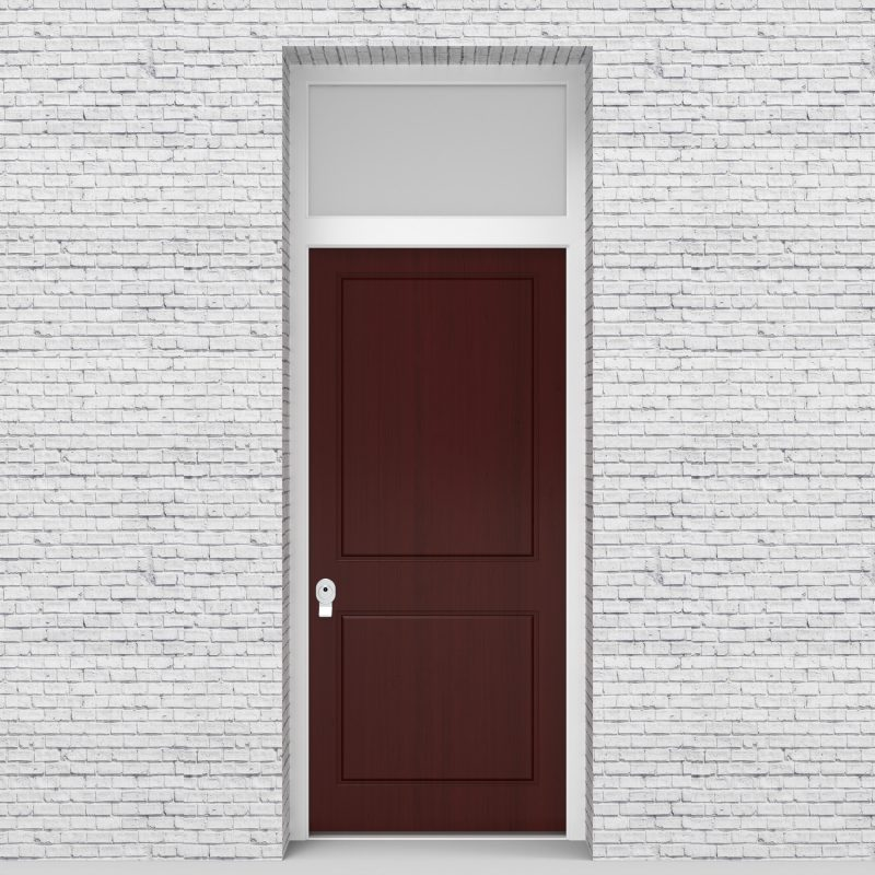 3.single Door With Transom Two Panel Mahogany