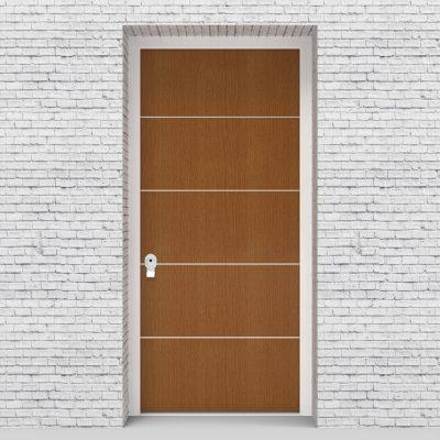 4.single Door 4 Aluminium Inlays Oak
