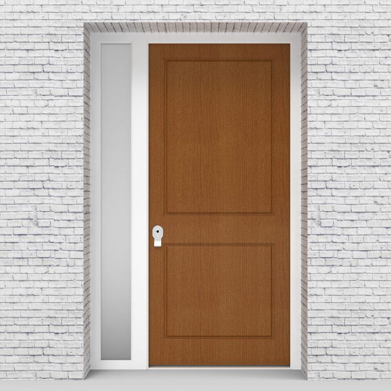4.single Door With Left Side Panel Two Panel Oak
