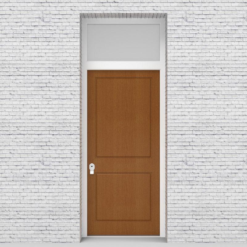 4.single Door With Transom Two Panel Oak