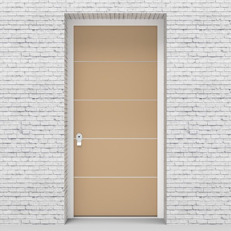 7.single Door 4 Aluminium Inlays Light Ivory (ral1015)