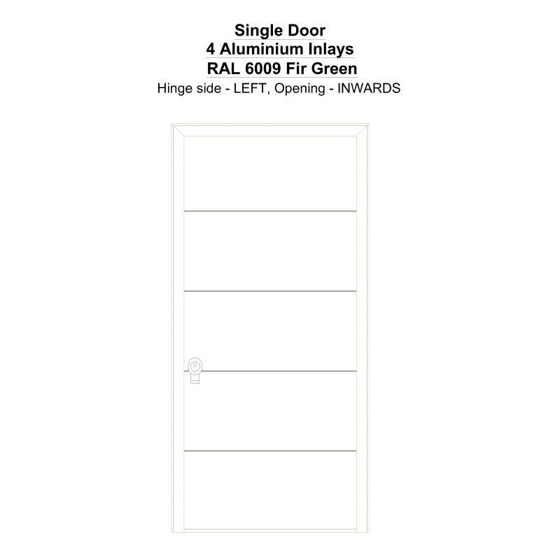 Sd 4 Aluminium Inlays Ral 6009 Fir Green Security Door