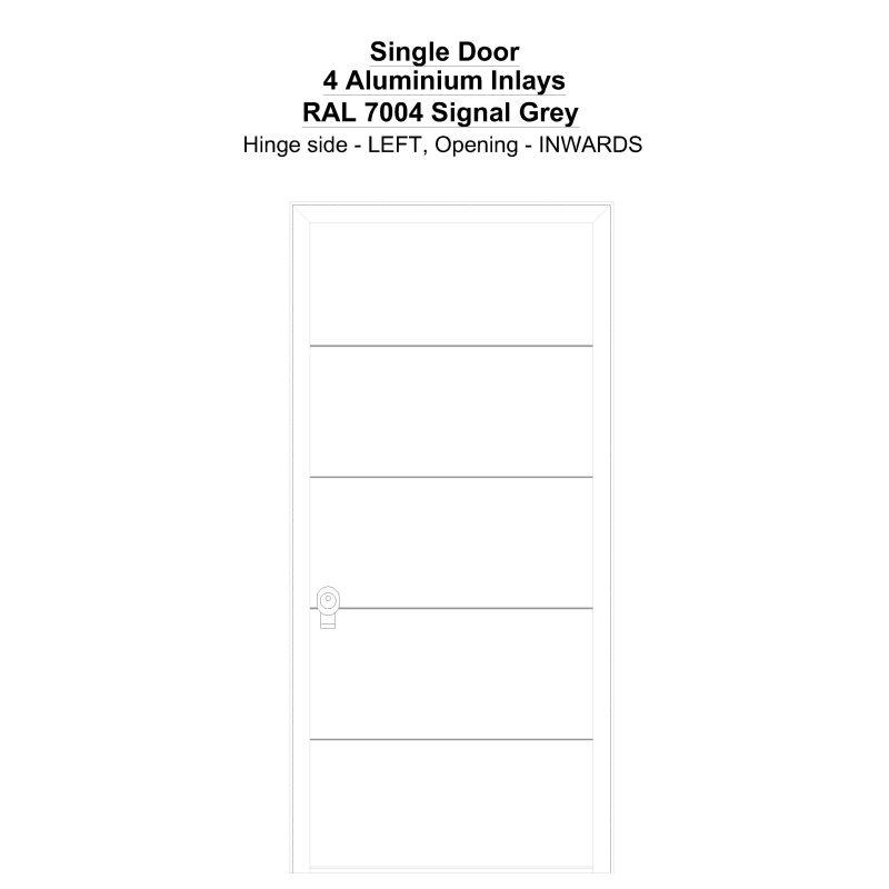 Sd 4 Aluminium Inlays Ral 7004 Signal Grey Security Door