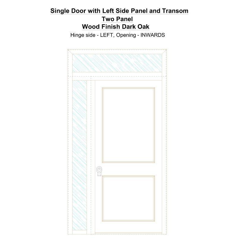 Sd1spt(left) Two Panel Wood Finish Dark Oak Security Door