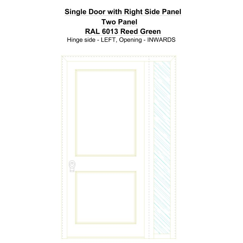 Sd1sp(right) Two Panel Ral 6013 Reed Green Security Door