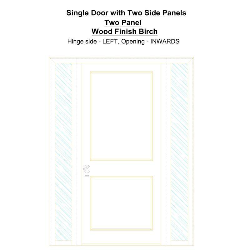 Sd2sp Two Panel Wood Finish Birch Security Door
