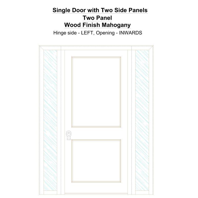 Sd2sp Two Panel Wood Finish Mahogany Security Door