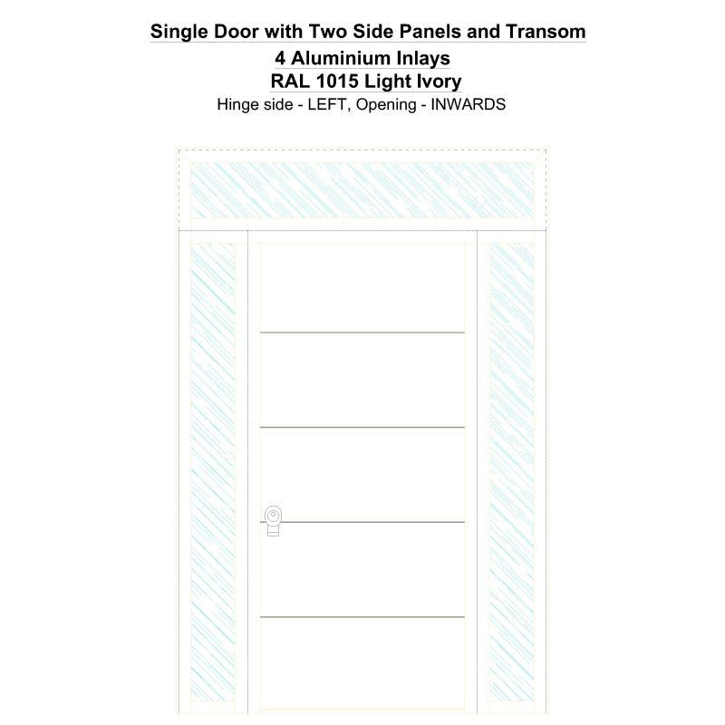 Sd2spt 4 Aluminium Inlays Ral 1015 Light Ivory Security Door