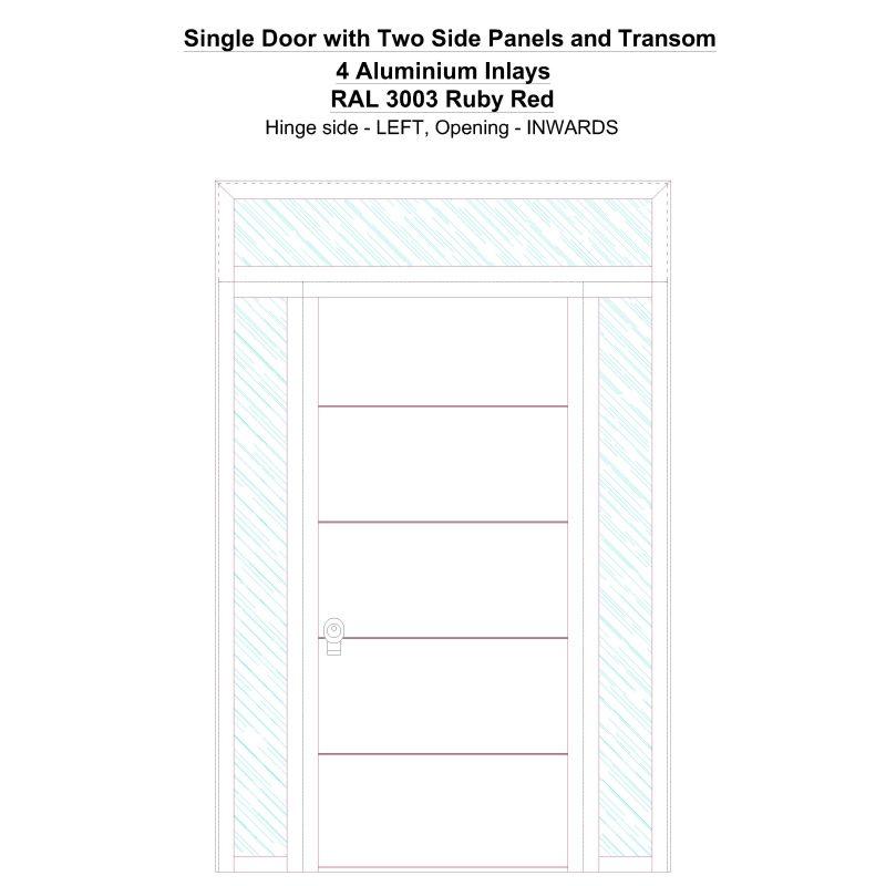 Sd2spt 4 Aluminium Inlays Ral 6009 Fir Green Security Door