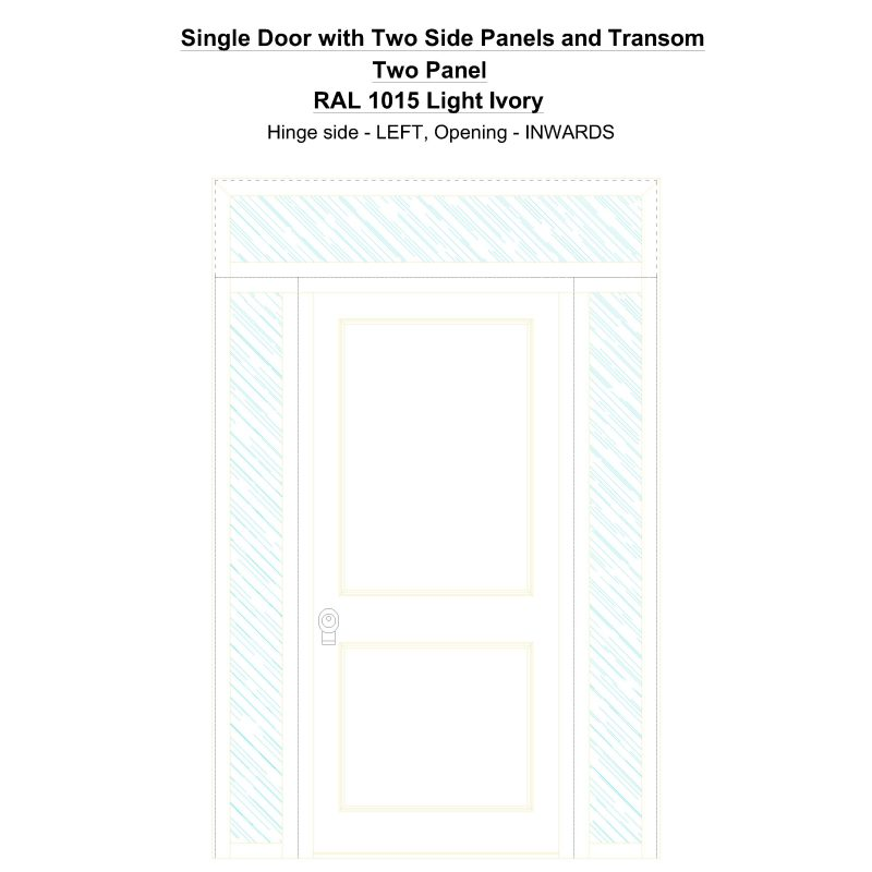 Sd2spt Two Panel Ral 1015 Light Ivory Security Door