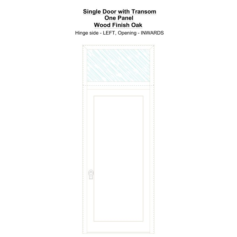 Sdt One Panel Wood Finish Oak Security Door