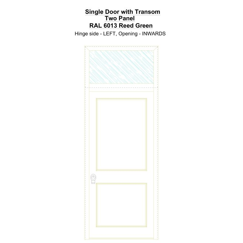 Sdt Two Panel Ral 6013 Reed Green Security Door