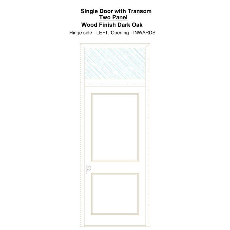 Sdt Two Panel Wood Finish Dark Oak Security Door