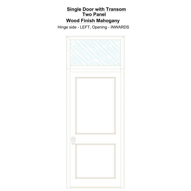 Sdt Two Panel Wood Finish Mahogany Security Door