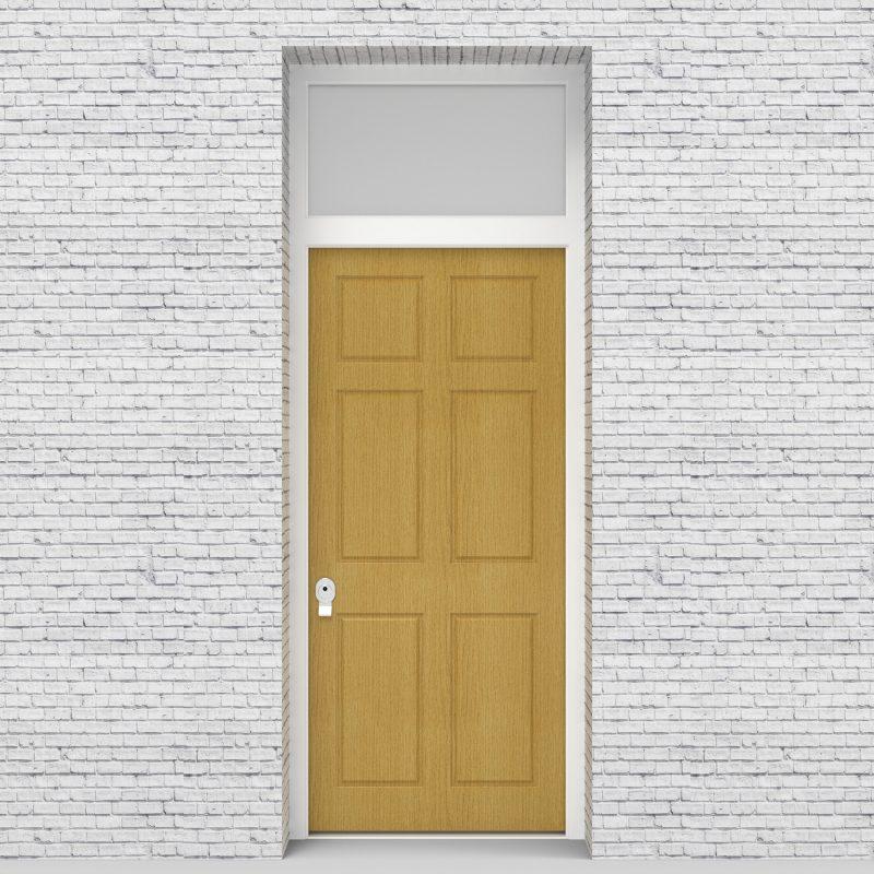 1.single Door With Transom Victorian 6 Panel Birch
