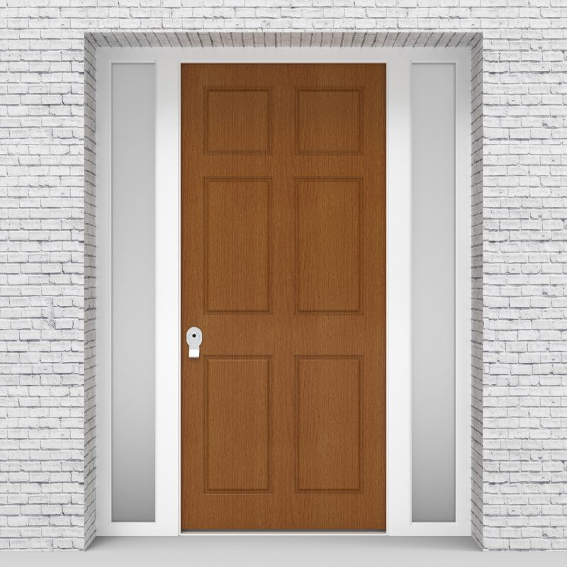 4.single Door With Two Side Panels Victorian 6 Panel Oak