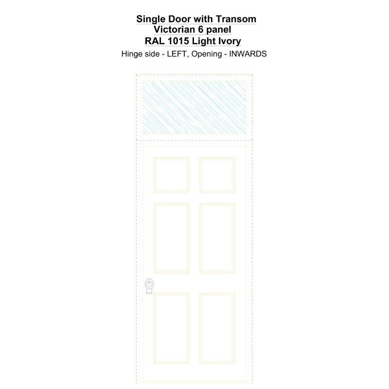 Sdt Victorian 6 Panel Ral 1015 Light Ivory Security Door