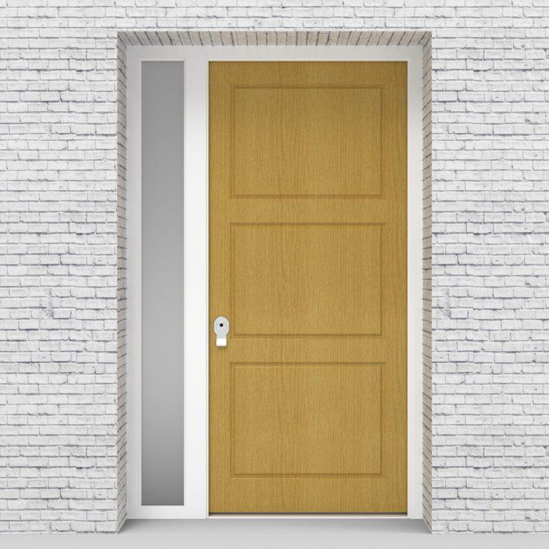 1.single Door With Left Side Panel Edwardian Birch