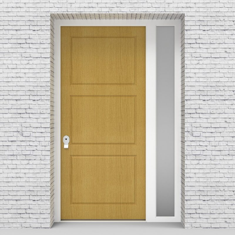 1.single Door With Right Side Panel Edwardian Birch