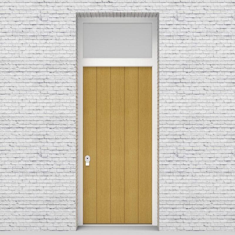 1.single Door With Transom 4 Vertical Lines Birch