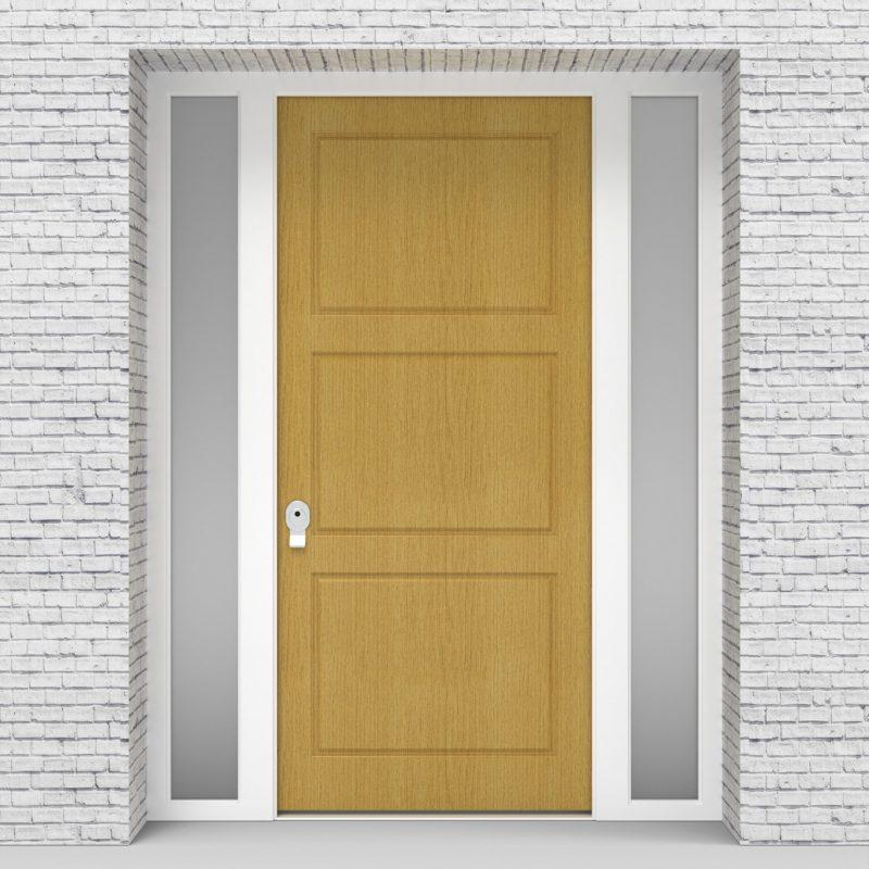1.single Door With Two Side Panels Edwardian Birch