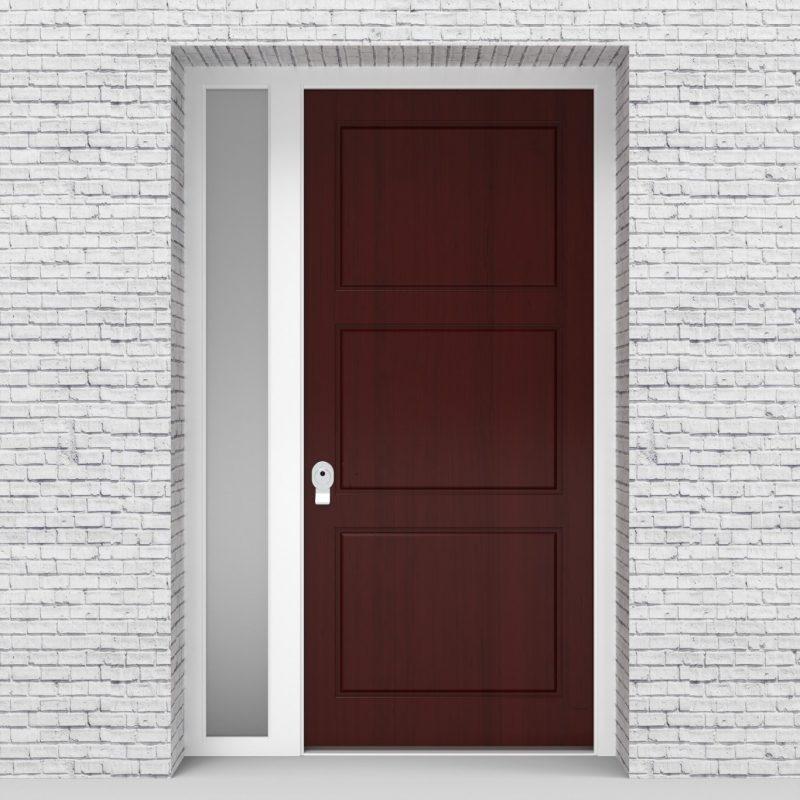 3.single Door With Left Side Panel Edwardian Mahogany